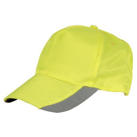 Cappellino Cofra LIT fluorescente con inserti Reflex